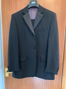 Mens black 2 piece evening suit from Next. Jacket 40S trousers 36/29