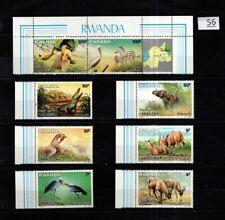 / RWANDA - MNH - ANIMALS - ELEPHANTS - CROCODILE - BIRDS - GIRAFFE