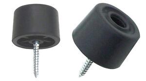 New Deluxe Heavy Duty 2 x Black 30mm rubber door stops door / wall protectors