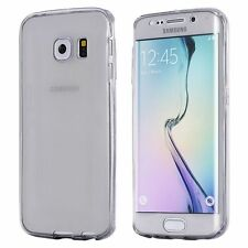 Seamless Front and Back Full Protect Two Piece TPU Clear Cover Case For Samsung