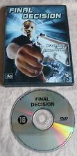 actie FINAL DECISION dvd NED ONDERTITELS all regions JONATHAN GORMAN maffia DVD0