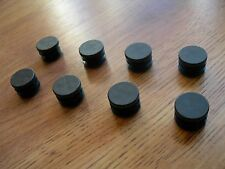 "8 Round Plastic Ribbed Finishing Cap Plugs for 7/8"" Outside Diameter Tube Black"