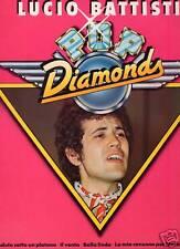 LUCIO BATTISTI raro disco LP 33 g. GERMANY Pop Diamonds STAMPA TEDESCA
