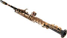 Sassofono Soprano Dritto Saxello Sax Sib Fa# Nero Karl Glaser Custodia Accessori