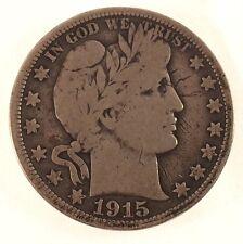 1915 Barber Half Dollar - Key Date - Fine Condition