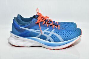 ASICS Mens Novablast Running Shoes Blue/White 1011A681 Size 12