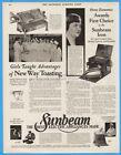 1929 Chicago Flexible Shaft Sunbeam Bernice Bost Iron Toaster Marie Doherty Ad photo