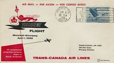 CANADA : TRANS-CANADA AIR LINES, MONTREAL TO WINNIPEG, FIRST FLIGHT COVER (1955)
