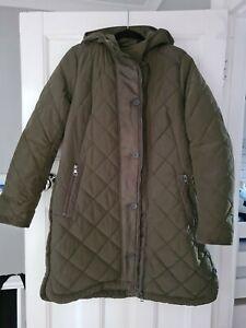 Next Green Padded Coat Size 16