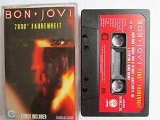 "BON JOVI ""7800 FAHRENHEIT"" [USA] 1985 CASSETTE, PAPER LABEL, LYRICS, TESTED."