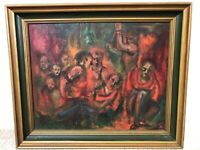 🔥 Antique Expressionist Muralismo Modernism Oil Painting - Mystery Signed