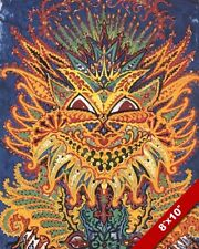 LOUIS WAIN ORNATE FLAMBOYANT CAT ANIMAL PAINTING WILD PET ART REAL CANVAS PRINT