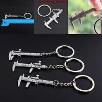 1X Car Metal Movable Vernier Caliper Ruler Model Keychain Key Chain Keyring Tool