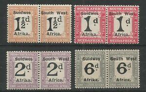SOUTH WEST AFRICA 1927 Postage Due 1d, 1 1/2d, 2d, 6d, SG D39, D34, D35, D38