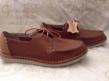 Nuevo 👤 Clarks 👤 Talla 6.5 G Ajuste (40 EU) linitis Borde Para hombre Zapatos Informales de Cuero Tostado