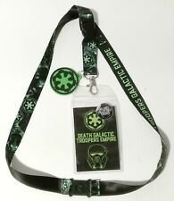 Death Trooper Star Wars Deluxe Lanyard w Rubber Charm & ID Card-Licensed