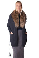 P.A.R.O.S.H. Wool Cardigan Size XS Marmot Fur Collar Made in Italy RRP €749