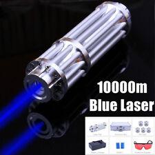 High Power Blue Laser Pointer Burning Light 450nm Beam Pen 5mW+ 5 Caps【US】