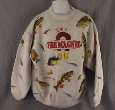 I'm a Fish Magnet Vintage Sweatshirt Youth M Pine River MN Fish Crappie Kids 12