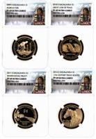 2009-2012 S Proof NGC PF 69 Sacagawea Native American Dollar Set - 4 Coin Set
