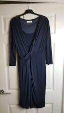 Planet Dark Blue Wrap Look Dress Size 14