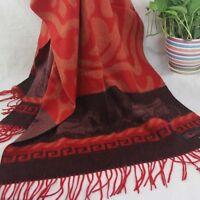 New Winter Women Man Jacquard Long Cashmere Wool Soft Warm Wrap Shawl Scarf 264