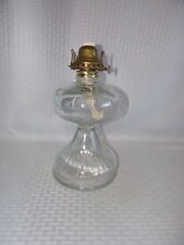 Antique EAPG Clear Glass Oil Lamp With a Paneled Base #2 Burner