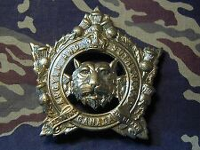 Old Canadian Argyll & Sutherland Regiment Cap badge KC Canada double lug