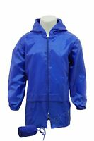 Kids Boys Girls Kag in a Bag Kagool Kagoul Rain coat Jacket Mac Cagoule Age 4-14