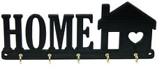 Home with House Heart Key Rack Hanger Holder Entryway Organizer Key Hooks Decor