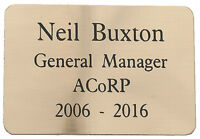 BRASS PLAQUE 65 X 45mm ENGRAVED WITH YOUR WORDS