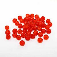 15 Orange Crackle Glass Beads 10mm BD069
