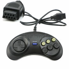 6 Button Wired Controller Pad Gamepad For Mega Drive Megadrive Sega MD Genesis