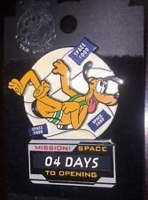 Disney Pin Pluto Mission Space Countdown Opening Day 04 4 Days Le 1000 Wdw