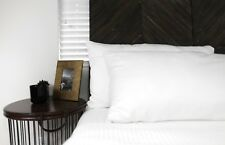 BEAUTY PILLOW CASE PAIR SET OF 2 NATURAL FIBERS ECO FRIENDLY KING WHITE SOFT