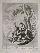 """Acquaforte Bulino Graveure Etching """"AGNUS DEI"""" Givanni Battista LAPI 1700"""