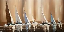Tableau peinture paysage marine bateau mer déco mur XXL peinture toile +châssis