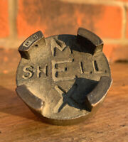 Original Vintage SHELL MEX Brass Oil Petrol Can Jug Screw Cap Lid