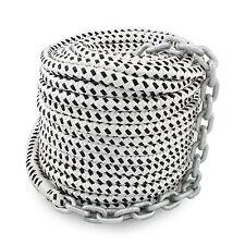 "New 200'x1/2"" Double Braided Nylon Rope & 15'x1/4"" HT G4 Chain, Windlass, Rode"