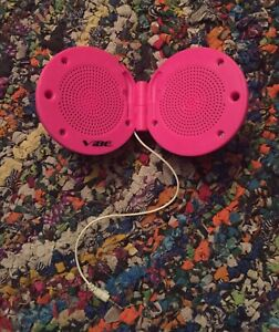 Pink Portable Vibe Speaker Ball 3.5mm Jack Wired Corded Phone iPod PSP iPad Kids