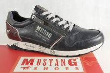 Mustang Men's Lace Up Sneakers Trainers Low Shoe 4106 Blue New