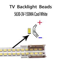 100pcs/lot led 5630 3v 150ma cool white for repair samsung led tv lcd backlight