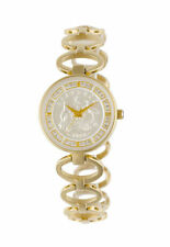 Ladies Boutique Sixpence Coinwatch Gold Bracelet with Swarovski Crystals