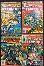 Super Villain Team-Up Comics (Lot of 4) Vintage 1976-77