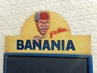 Tableau publicitaire en bois-BANANIA-ardoise murale vintage