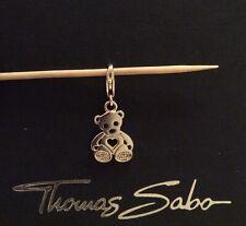 Thomas Sabo charm: Teddy bear, cubic zirconia & silver, hallmarked