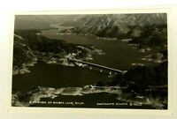 RPPC Shasta Lake California Aerial View Real Photo Postcard