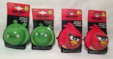 4 Angry Bird Roller-Ball Hydrating Lip Balm LOT NEW Botanically Enriched Cherry