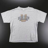 GILDAN USA College Grey Sports Short Sleeve T-Shirt Mens XL