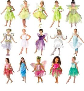 Child Girls FAIRIES Fancy Dress Costume Book Week Day Disney Tinker Bell 3-10 Y